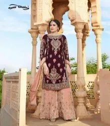 Your Choice Glorina Vol 5 Georgette Sharara Style Salwar Suit Catalog