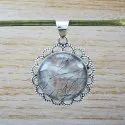 Rainbow Moonstone Gemstone 925 Sterling Silver Jewelry Pendant