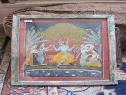 Antique  painting of God Krishana