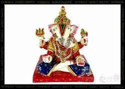 Raisin Seth Ganesha Statue Meenakari Enamel Work God Idol Statues
