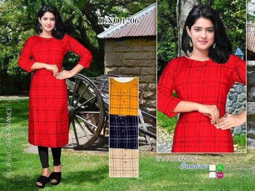 Printed kurti - Reyon