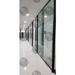 Transparent 12 MM Toughened Glass, For Partition, Shape: Flat