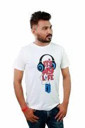 Printed Half Sleeve MAXUS Mens Cotton T Shirt