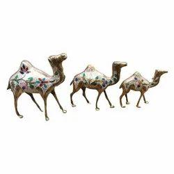 Brass Camel Hand Engraved Enamel