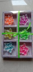 Multicolor Flower Decorative Floating Candles