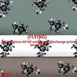 Flying Cotton Satin Twill Discharge Print