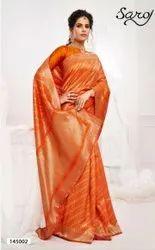 Designer Jacquard Saree