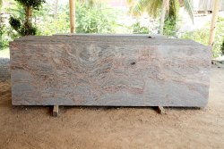 Polished Juprana Granite Slab, For Flooring, Thickness: 15-20 mm