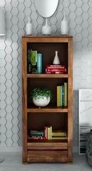 Brown Wooden Bookshelf, For Home, Size: H54 * W17* D16 Inch