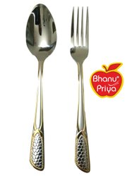 Stainless Steel Silver SS Spoon And Fork Set