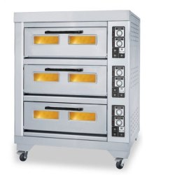 Electric Pizza Oven 3 Deck 6 Trays