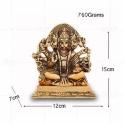 Gold Plated Panchmukhi Hanuman