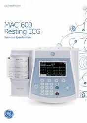 3 Channel ECG Machine, Digital, Mac 600