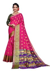 6 m (with blouse piece) Festive Wear Banarasi Silk Cotton Sarees