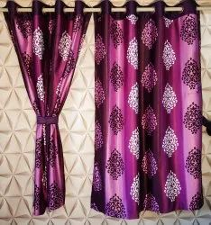 long crush print curtain