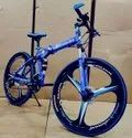 Royal Blue Mercedes Benz 3s Foldable Cycle