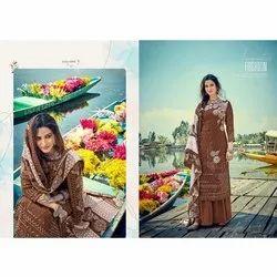Party Wear Normal Salwar Straight Fancy Ladies Suits, Handwash