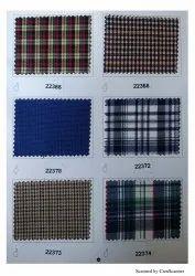 Checked Poly Cotton Retro Check School Uniform Fabric