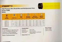 High pressure wire  braid mine and  multipurpose hose series 7268E