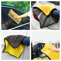Microfiber Car Washing Cleaning And Polishing Towel, Plastic Packet