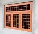 Modern Brown Residential Galvanized Steel Window, Size/dimension: 3.5 X 4.5 Feet