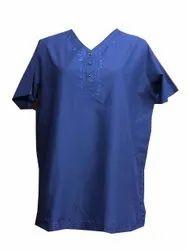 Cotton Casual Paras Fashion Mens Short Kurta, V Neck