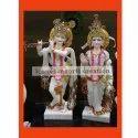 White Standing Marble Radha Krishna Statue