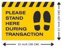 Anti Skid Laminated Social Distancing Floor Sticker