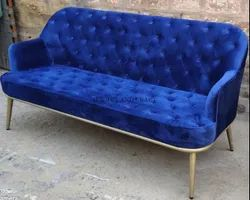 Chested Sofa with Metal Stand for Restaurants/ Cafe and Hotels