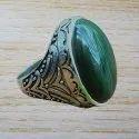 Handmade 925 Silver Jewelry Malachite Gemstone Men's Ring
