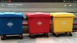 Flat Top Waste Dustbin 1100L