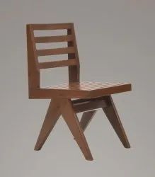 Pierre Jeanneret Outdoor Slatted Dining Chair
