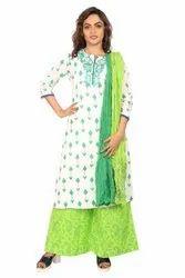 Cotton Culture Party Wear Ladies Printed Suit