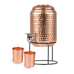 Copper water pot with stand