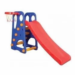 Plastic 4 Step Park Slide With Basketball Game, Child Age Group: 3+ Age