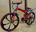 Mercedes Benz Red 6s Foldable Cycle
