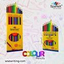 Colourful Multicolor Spartex Colour Pencil-big, For Colouring, Packaging Size: 10pcs Box