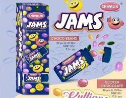 Shivalik Chocolate Jams Choco Beans Candy, Quantity Per Pack: 40 Pieces