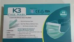 3 Ply Green Disposable Pollution Mask