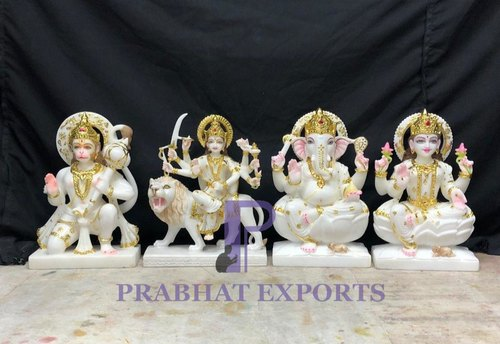 White Marble Indian God Statue