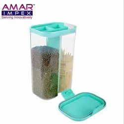 2 section container ,Cereal Dispenser Storage Container Jar