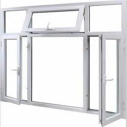 Modern Powder Coated Aluminium Casement Window, For Home, Size/Dimension: 8 *5 Feet