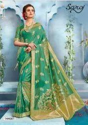 Lichi Silk Banarasi Pallu Saree