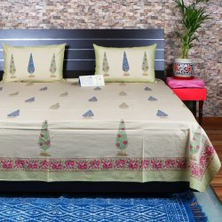 Hand Block Printed Cotton Bed Sheet