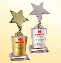 WM 9523 Ace Star Crystal Base Trophy
