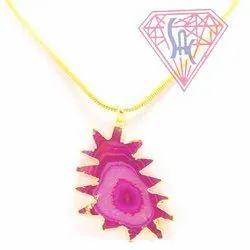 Gemstone Druzy Pendant