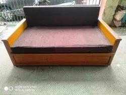 Modern Wooden Sofa cum Cot Bed with Storage