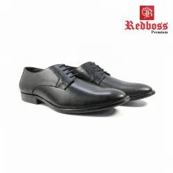 Black Derby Red Boss Premium Genuine Leather Formal and Party Shoes, Airmix