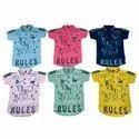 Casual Wear Polo Kids Collar Hosiery T Shirt