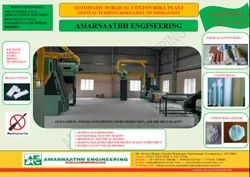 Semi Automatic Surgical Cotton Roll Making Plant(400 Kgs/Day)